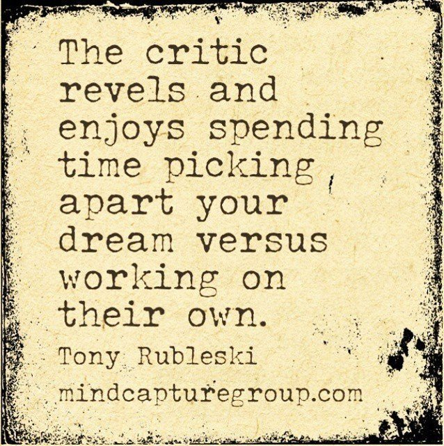 Will You Listen to the Critics, or Press Onward Towards the Prize?