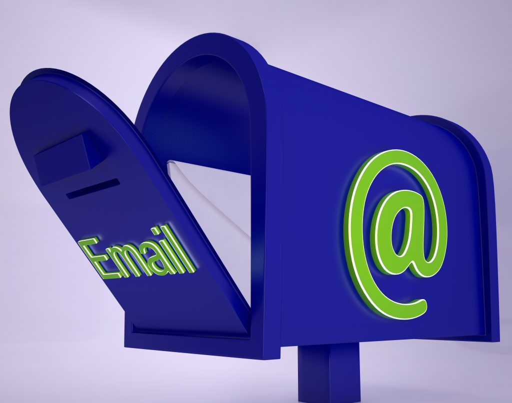Mail On Email box Shows Received Emails Or Electronic Correspondence