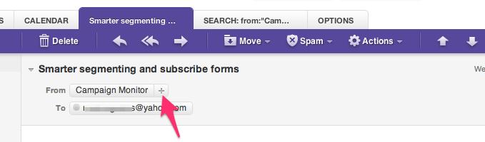 Yahoo! Email whitelisting image